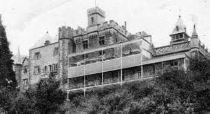 Craig y Nos Castle hospital era balconies at back for patients to lie outside