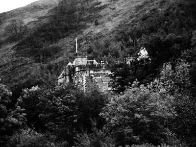 Craig y Nos Castle amidst the mountains, Upper Swansea Valley, South Wales