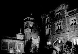Haunted House Craig y Nos Castle Wales at night