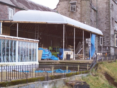 Craig y Nos Castle Haunted Hotel's Conservatory, Powys, under restoration