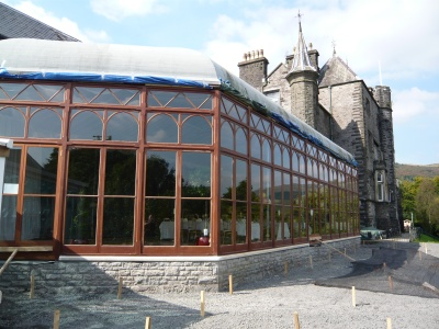 Craig y Nos castle Conservatory after restoration 2008 Upper Swansea Valley, Powys
