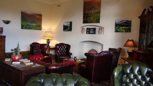 Nicolini Lounge at Craig y Nos Castle Haunted Hotel in Swansea, Wales