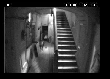 Ghost Apparition ghost hunting staircase haunted house Craig y Nos Castle, South Wales