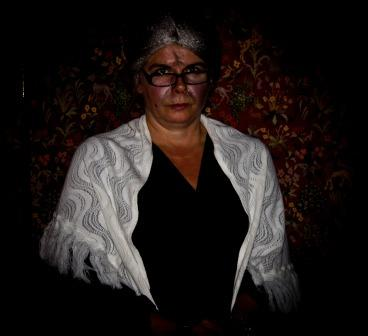 Swansea Hen Parties Fright night character in period costume ghostly old lady Craig y Nos Castle Wales