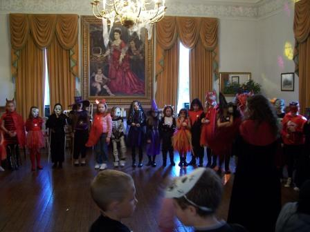 Fright Night Nightmare before Christmas  party in music room at Craig y Nos Castle, Swansea Valley, South Wales