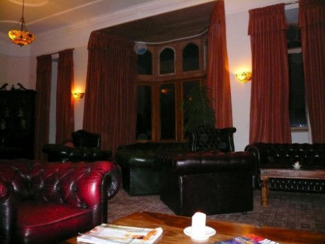 Nicolini Lounge at Craig y Nos Castle haunted house, Swansea, Wales