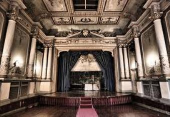 Old theatre, haunted opera house at Craig y Nos Castle in Wales