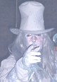 Steve Graham Paranormal Investigations  Haunted Castle Craig y Nos, a ghost with large hat at Ladies Fright Night