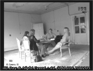 ghost hunters in wales at seance table in Patti Boudoir, Craig y Nos Castle. Swansea